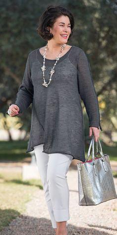 Box 2 dark grey linen knit jumper