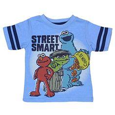 63dd733bf3 Amazon.com  Sesame Street Boys Short Sleeve Tee (Baby Toddler Little Kid)   Clothing