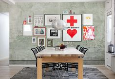 Mr Perswall   painted concrete wallpaper - clever