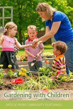 Gardening with children is like most sensory experiences with three and four year-olds. It's messy, it's chaotic, and the more children you add to the scenario, the more instruction goes out the window and you just hope something is getting through! The amazing thing is that something always does. —Tap through to read this very realistic, helpful piece on the benefits of gardening with groups of young children. Outdoor Learning, Kids Learning, Benefits Of Gardening, Sensory Experience, Early Childhood Education, Young Children, Natural Wonders, Teacher Resources, Booklet
