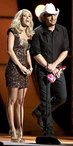 Carrie Underwood (with Brad Paisley at CMAs). Best show hosts EVER, plus amazing musicians.