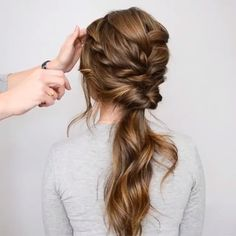 56 Updo Ideas & Tutorials for Wedding - Frisuren - Hochzeitsfrisuren-braided wedding updo-Wedding Hairstyles Up Hairstyles, Pretty Hairstyles, Hairstyle Ideas, Engagement Hairstyles, Braided Hairstyles For Long Hair, Newest Hairstyles, Simple Hairstyles For Wedding, Quick School Hairstyles, Long Hair Easy Updo