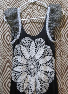 Altered black slinky long slip dress upcycled by paintallday, $26.00