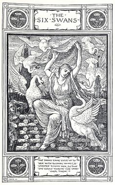 The six swans, Walter Crane, from The art of illustration, by Henry Blackburn, London, 1896.