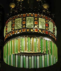 My Art Photos - Social History of Art Old Lamps, Antique Lamps, Antique Lighting, Vintage Lamps, Art Deco Chandelier, Art Deco Lamps, Wine Bottle Wall, Wine Bottles, Art Nouveau