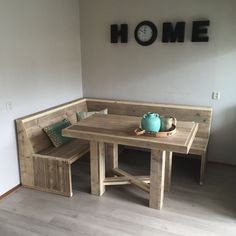 kitchen ideas – New Ideas Dining Room Bench, Corner Bench Seating, Kitchen Benches, Kitchen Decor, Outdoor Furniture Plans, Deck Furniture, Palette Furniture, Home Bar Designs, Small Apartment Decorating