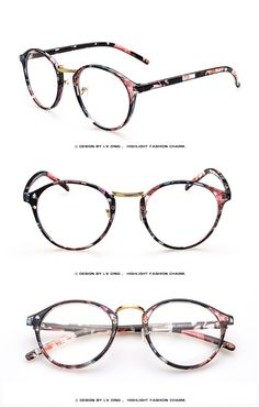 1a2d881679 Pink floral prescription glasses frame black floral eyewear for women women  spectacles frame for Myopia Online