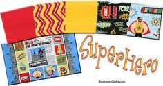 SuperHero Collection with cute panel! Kit available!
