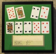 The actual cards he won with up for auction on EBay:  http://www.ebay.com/itm/Chris-Moneymaker-s-actual-final-hand-from-World-Series-of-Poker-WSOP-2003-/171038578077?pt=LH_DefaultDomain_0=item27d2b1959d