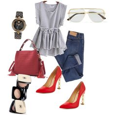 A fashion look from January 2018 featuring Cheap Monday jeans, Versace watches und Gucci sunglasses. Browse and shop related looks.