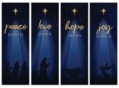 Christmas Star Hope is Born Advent Set Banner - Church Banners - Outreach Marketing Christmas Stage Decorations, Christmas Stage Design, Church Stage Design, Christmas Banners, Christmas Star, Christmas Jesus, Christmas Tables, Christmas Clipart, Christmas Cards