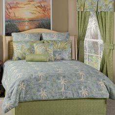 Island Song Surf Tropical Bedding - #BeddingNMore #Tropical #Beach #Home #Decor