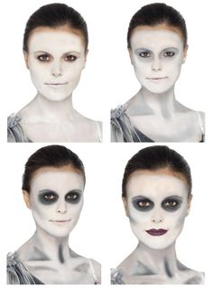 Good ghost makeup example