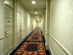 Haunted hallway at Congress Plaza Hotel Kp, that's the door of the room we were in!!!