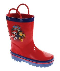 Look at this Red PAW Patrol Rain Boots - Girls on #zulily today!