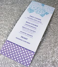 This Printable Menu Template Comes In  Colors It Reminds Me Of A