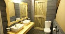 Tent Bathroom Glamping, Bathroom Lighting, Tent, Greece, Island, Mirror, Furniture, Home Decor, Bathroom Light Fittings