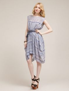Woven Geo Embroidered Cutout Dress by Free People on Gilt