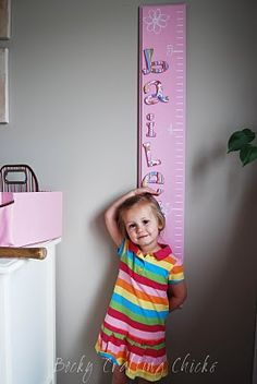 Maybe for her first birthday?-- I really like the idea of a removable growth chart, since we'll move alot