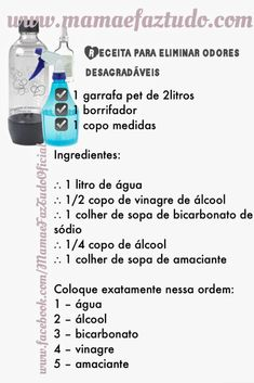 MamãeFazTudo: Truque para eliminar odores desagradáveis. Adeus mau cheiro! Deep Cleaning, Cleaning Hacks, Flylady, Cold Process Soap, How To Remove, How To Make, Home Organization, Clean House, Helpful Hints