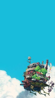 Howl's flying castle - beautiful Wallpaper for your mobile phone Howl's Moving Castle, Howls Moving Castle Wallpaper, Studio Ghibli Poster, Art Studio Ghibli, Studio Ghibli Movies, Anime Scenery Wallpaper, Cartoon Wallpaper, Film Anime, Anime Art