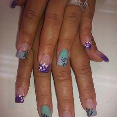 Pink nails and more safari nails