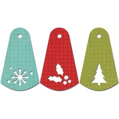 Silhouette Design Store - View Design #4230: Christmas gift tags