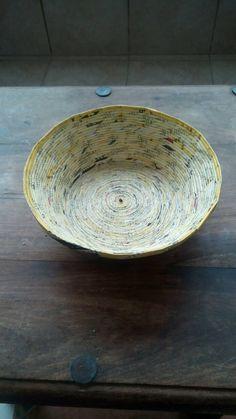 Handmade paper bowl  Size: 20 cm diameter x 24 cm height.