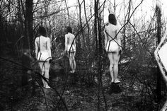 Children of the Winter Forest: Dara Scully's Poetic Photography Creepy Photography, Erotic Photography, Abstract Photography, Freelance Photography, Bizarre Art, Creepy Pictures, Forest Art, Scully, Black N White Images