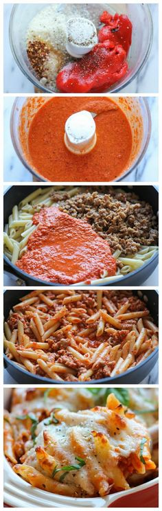 Focuseat: Red Pepper Pasta Bake Recipe