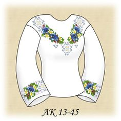 Embroidery Patterns, Blouse, Long Sleeve, Sleeves, Tops, Women, Fashion, Punch Art, Needlepoint Patterns