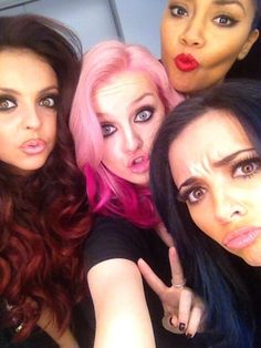 My girls! Perrie, Leigh, Jesy, & Jade with their new hairdos!
