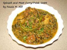 Spinach and Meat Curry/Palak Gosht | Fauzias Kitchen Fun