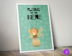 A4 Kinder-Poster Fleißig wie eine Biene