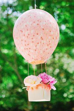"""Whimsical """"Dream Big"""" Hot Air Balloon Baby Shower"""