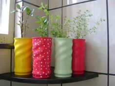DIY, Beautiful and Ingenious Ideas Upcycled Crafts, Tin Can Crafts, Diy And Crafts, Diys, Red Home Decor, Aluminum Cans, Giant Paper Flowers, Diy Recycle, Bottle Crafts