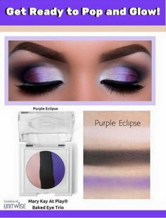Get this look with the new Mary Kay @ Play Baked Eye Trio in Purple Eclipse! Available at www.marykay.com/kfunk
