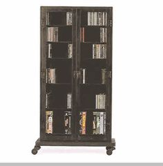 Metal CD Cabinet http://www.ironaccents.com/cabinets.html