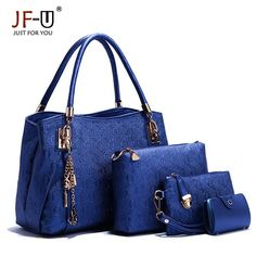 Luxury Handbags Women Bags Designer Female Bag Hobo Tote Set Top-handle shoulder bags Handbag+Messenger Bag+Purse sac a main