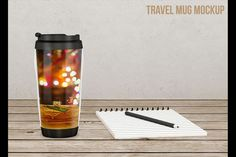 Travel coffee mug mockup from DesignBundles.net, psd mockups,