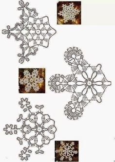 Best 12 Lots of snowflakes for Christmas, from .- Tantissimi Fiocchi di neve all'uncinetto per Natale, da usare come sottobicc… Lots of snowflakes Crochet Snowflake Pattern, Crochet Motif Patterns, Crochet Stars, Crochet Snowflakes, Crochet Diagram, Thread Crochet, Crochet Doilies, Crochet Flowers, Crochet Lace