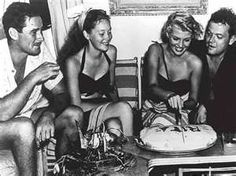 Errol Flynn, Nora Eddington, Rita Hayworth & Orson Welles....for Susan who taught me years ago that there is no movie better than one featuring a young Errol Flynn:)