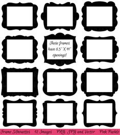 Frames Clip art Clipart, Digital Picture Frames Clipart Clip art with x Openings - Commercial and Personal Use Vinyl Frames, Vinyl Wall Art, Frames On Wall, Art Clipart, Adobe Illustrator, Custom Vinyl, Photoshop Brushes, Picture Frames, Clip Art