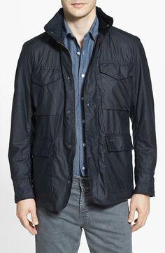 Men's Barbour 'Sapper' Tailored Fit Weatherproof Waxed Jacket