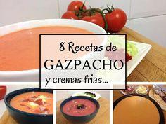 8 Recetas de gazpacho y cremas frías