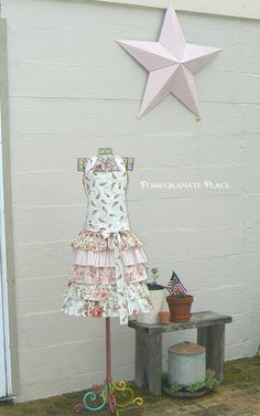 Vintage Rose Ruffly apron..ladies.....READY TO by PomegranatePlace, $34.95