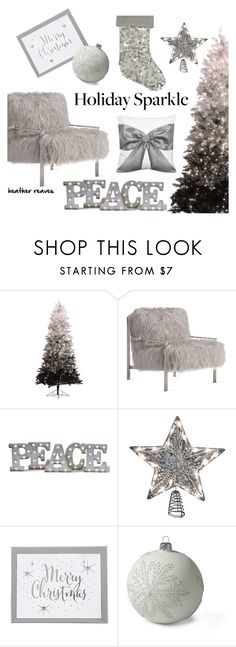 """""""Deck the Halls"""" by heather-reaves ❤ liked on Polyvore featuring interior, interiors, interior design, home, home decor, interior decorating, Axel, Grandin Road, Lands' End and HolidayParty"""