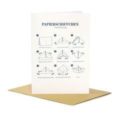 """Papierschiffchen"" - Greeting card"