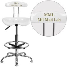 Personalized Vibrant White and Chrome Drafting Stool with Tractor Seatu2026  sc 1 st  Pinterest & Personalized Vibrant Violet and Chrome Drafting Stool with Tractor ... islam-shia.org