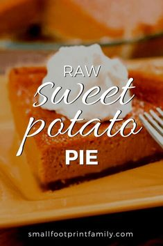 After a heavy traditional meal, enjoy this lighter, healthier version of the Thanksgiving classic: raw sweet potato pie. Click to get the recipe! #paleo #paleodiet #glutenfree #dairyfree #vegan #vegetarian #rawvegan #recipe #grainfree #realfood #dessert #holidays #thanksgiving #christmas